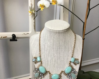 Mint Bib Statement Necklace