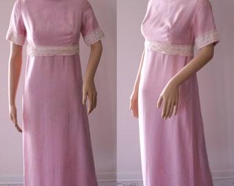 Romantic 60's Handmade Pink Dress with History
