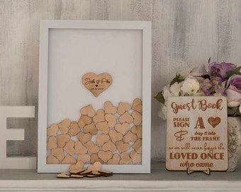 Wedding guest book alternative drop box | Etsy
