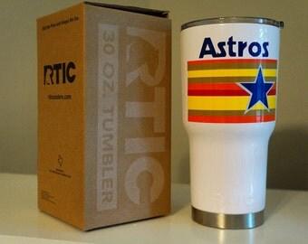 Astros Inspired Retro RTIC Tumbler