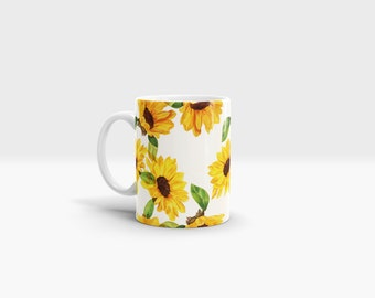 Sunflowers Mug. 11oz Ceramic Mug.