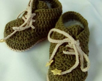 cotton booties knitted crochet star