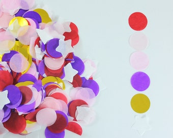 """Mix Circle and Start Confetti (1 inch - Ideal for 36"""" Balloons)"""