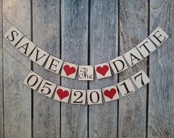 Save the date banner, engagement date sign, wedding date banner, wedding date photo prop, photography props, wedding engagement announcement