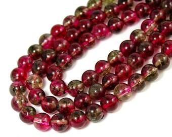 """Two 15"""" strands Tourmaline Quartz Beads 6mm, Two 15"""" strands"""