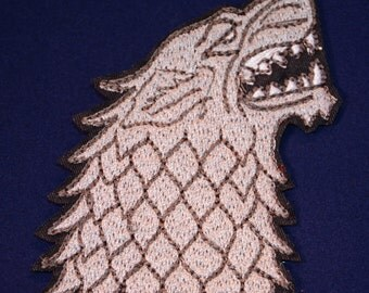 The Wolf - STARK Sigil Dire Wolf Patch Inspired by Game of Thrones