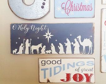 Oh Holy Night Nativity Vinyl Stencil