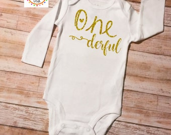 First Birthday, First Birthday Onesie, First Birthday Onesie Girl, Birthday Onesie, 1st Birthday, Birthday Outfit, 1st Birthday Outfit