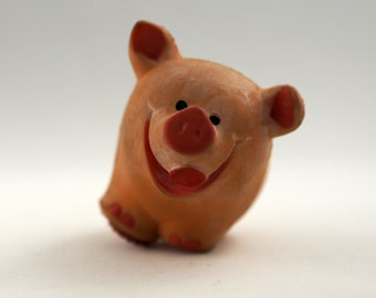 Sqeaky Vintage Lanco Spanish Pig Latex Miniature Toy