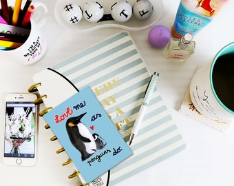 Love me as penguins do - Valentine and Love Card