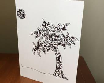 CARD- Palm Tree print