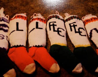 Personalized Brand Knit Christmas Stocking