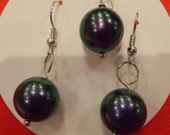Purple Pearl Jewelry Set