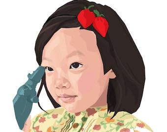 Custom portrait, Personalized portrait, Couples portrait, Family portrait, Instant download, Portraits, Illustration, Pet portrait, Kids