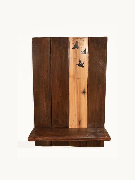 Wall Shelf Home Decor : Wall shelf rustic home decor pallet handpainted