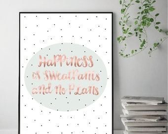 Rose Gold Happiness Print