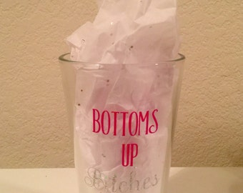 Bottoms Up Pint Glass (Explicit)