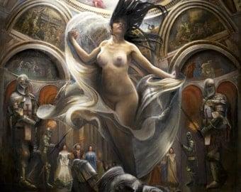 Maleficent (Sleeping Beauty) oil painting