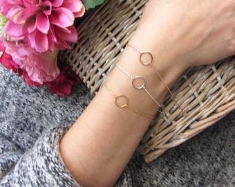 Everyday bracelets, Karma bracelet, One Circle Bracelet, Eternity Bracelet, rose gold circle bracelet, sterling silver, gold circle bracelet