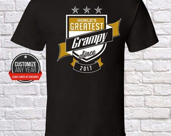 World's Greatest Grampy Since (Any Year) Grampy Gift, Grampy Birthday, Grampy Tshirt, Grampy Gift Idea, Baby Shower, ,