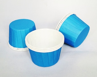 High Quality Pleated Blue Baking Cups Cupcake Cases Muffin Cups