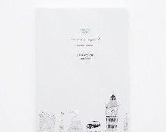 TheBigBell-  notebook, Minimalist blank Notebook, Journal, Planner, Journal Insert, Planner Insert