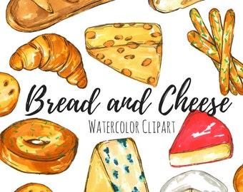 Bread and Cheese Clip Art Set - Bread Clip Art - Cheese Clip Art - Food Clip Art - Commercial Use