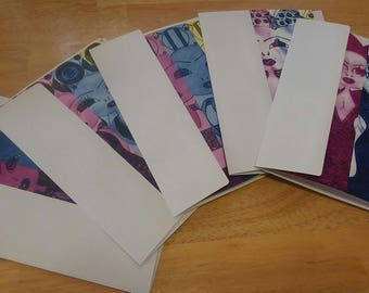 Hand-made 5 pk. Phace Greeting Cards