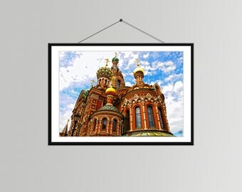 Church of the Savior on Spilled Blood in St. Petersburg, Russia // Church Print - Religious Wall Décor - Russia Travel Photo - Architecture