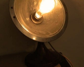 Industrial lamp vintage radiator