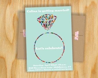Sprinkle Ring Bridal Shower Invitation