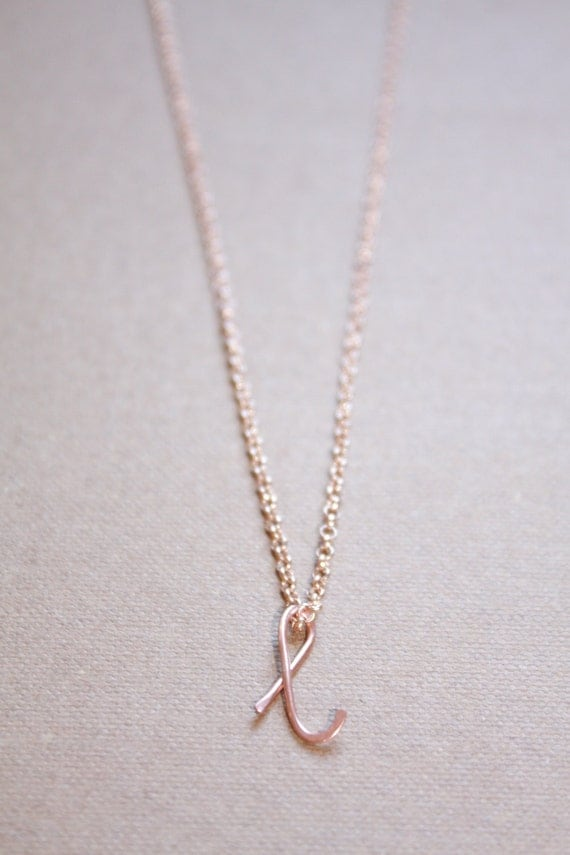 letter l necklace silver gold rose gold initial necklace cursive letter necklace lowercase initial necklace