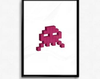 Space Invader - Pink