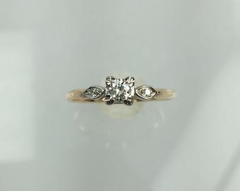 Vintage 1940's diamond engagement ring .23ct