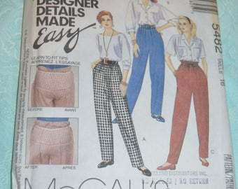 McCalls 5482 Misses Perfect Pants Sewing Pattern UNCUT Size 16