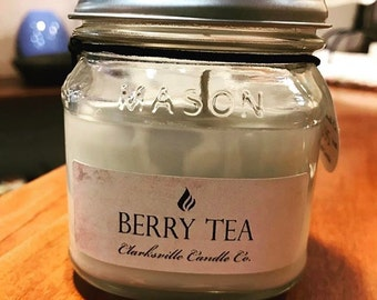 Berry Tea All Natural Soy Candle 6oz