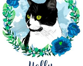 Pet Portrait, Custom Pet Portrait, Pet Portrait Digital, Pet Memorial, Pet Illustration, Cat Portrait, Dog Portrait, Digital Files