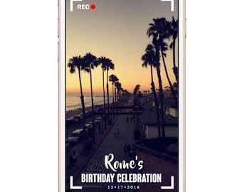 Recording style Snapchat Filter | All occasion Geofilter | Birthday | Wedding | Anniversary | Holiday | Custom Geofilter