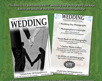 Wedding Day Photography 2017 Package