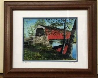 Erbs Bridge, PA Oil Painting Print