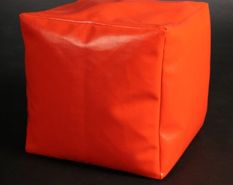 Eco Leather Cube Bean Bag