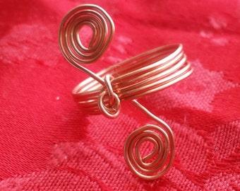 Copper Spiral Wire Ring
