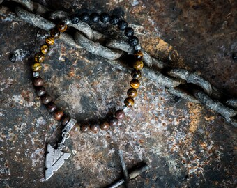 DETERMINATION | Unisex Aromatherapy Gemstone Diffuser Bracelet