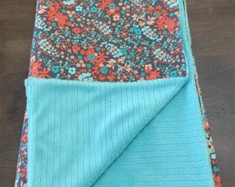 Baby Girl Blanket Cotton/Minky