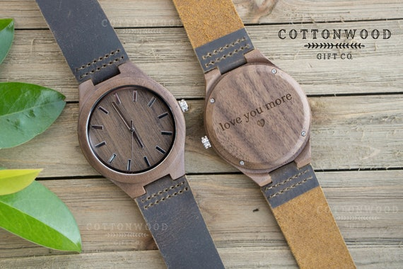 Personalized Engraved Wood Watch For Men