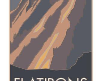 Flatirons Boulder Colorado Poster