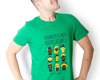 100% recycled t-shirt - Equality is not rocket science