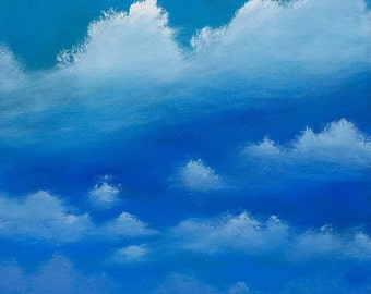 Big Sky. Original oil painting on deep-edged canvas. 40x30cm. Varnished & signed by the artist.