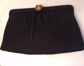 Vintage Black After Five Clutch/Dinner Bag