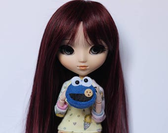 Cookie Monster Bag Tsum Tsum for Blythe, Pullip, ...